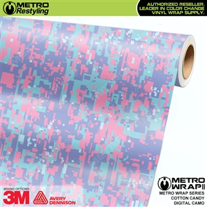 digital cotton candy camouflage vinyl wrap
