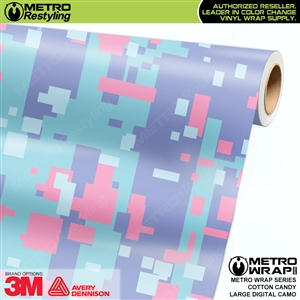 large digital cotton candy camouflage vinyl wrap