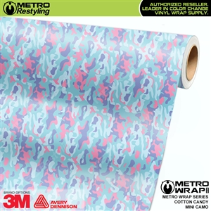 mini cotton candy camouflage vinyl wrap