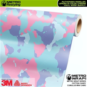 mini cumulus cotton candy camouflage vinyl wrap
