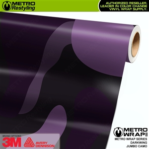 Jumbo Darkwing Camouflage Vinyl Car Wrap Film