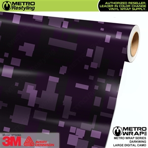 Large Digital Darkwing Camouflage Vehicle Vinyl Wrap Film