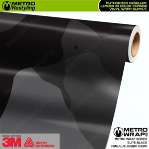 Jumbo Cumulus Elite Black Camouflage Vinyl Car Wrap Film