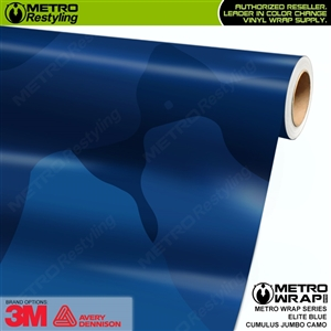 Jumbo Cumulus Elite Blue Camouflage Vinyl Car Wrap Film