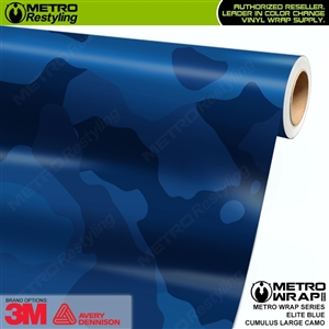 Large Cumulus Elite Blue Camouflage Vinyl Car Wrap Film