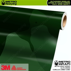Jumbo Cumulus Elite Green Camouflage Vinyl Car Wrap Film