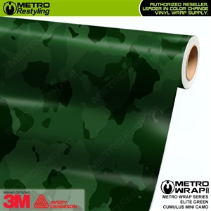 Mini Cumulus Elite Green Camouflage Vinyl Car Wrap Film