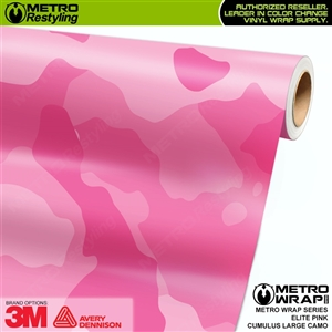 Large Cumulus Elite Pink Camouflage Vinyl Car Wrap Film