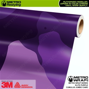 Jumbo Cumulus Elite Purple Camouflage Vinyl Car Wrap Film