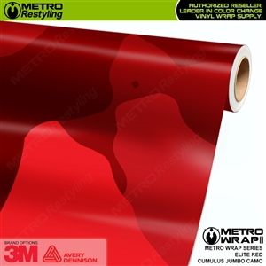 Jumbo Cumulus Elite Red Camouflage Vinyl Car Wrap Film