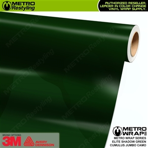 Jumbo Cumulus Elite Shadow Green Camouflage Vinyl Car Wrap Film