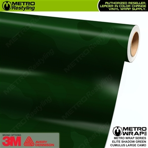 Large Cumulus Elite Shadow Green Camouflage Vinyl Car Wrap Film