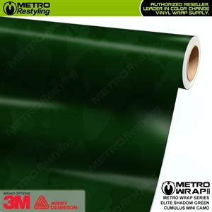 Mini Cumulus Elite Shadow Green Camouflage Vinyl Car Wrap Film