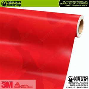 elite shadow red large cumulus camo vinyl wrap film