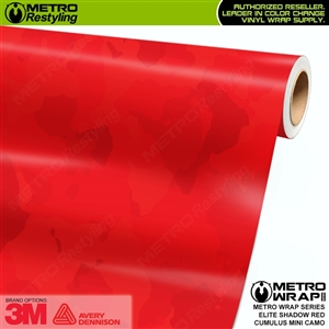elite shadow red mini cumulus camo vinyl wrap film