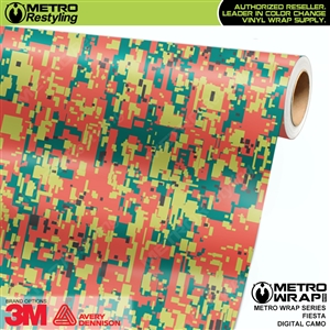 Digital Fiesta Camouflage Vinyl Car Wrap Film