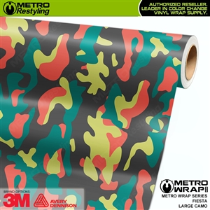Large Fiesta Camouflage Vinyl Vehicle Wrap Film