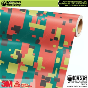 Large Digital Fiesta Camouflage Vehicle Vinyl Wrap Film