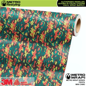 Mini Fiesta Camouflage wrap car vinyl film
