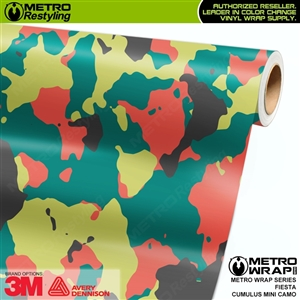 Mini Cumulus Fiesta Camouflage Vinyl Car Wrap Film