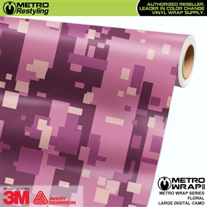 Large Digital Floral Camouflage Vehicle Vinyl Wrap Film