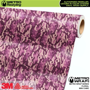 Mini Floral Camouflage wrap car vinyl film