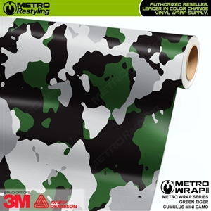 Mini Cumulus Green Tiger Camouflage Vinyl Car Wrap Film