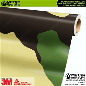Jumbo Cumulus Jungle Camouflage Vinyl Car Wrap Film