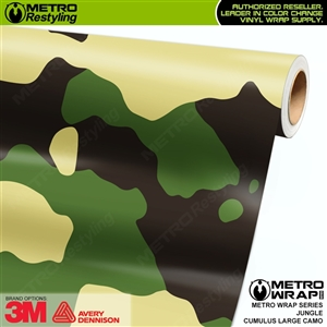 Large Cumulus Jungle Camouflage Vinyl Car Wrap Film