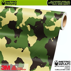 Mini Cumulus Jungle Camouflage Vinyl Car Wrap Film