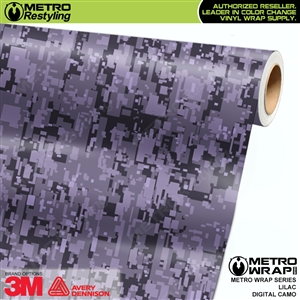 Digital Lilac Camouflage Vinyl Car Wrap Film