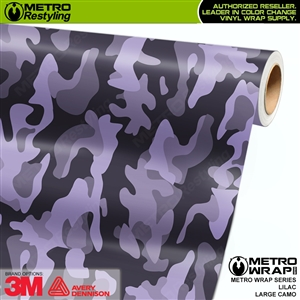 Large Lilac Camouflage Vinyl Vehicle Wrap Film