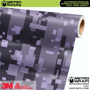 Large Digital Lilac Camouflage Vehicle Vinyl Wrap Film