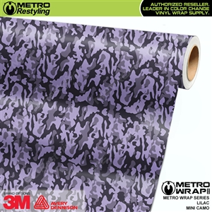 Mini Lilac Camouflage wrap car vinyl film