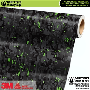 Digital Metro Green Camouflage Vinyl Car Wrap Film