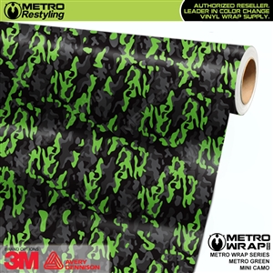 Mini Metro Green Camouflage wrap car vinyl film