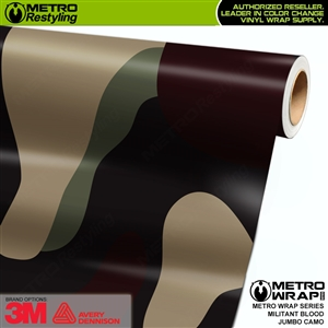 Jumbo Militant Blood Camouflage Vinyl Car Wrap Film