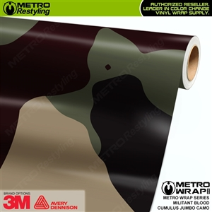 Jumbo Cumulus Militant Blood Camouflage Vinyl Car Wrap Film