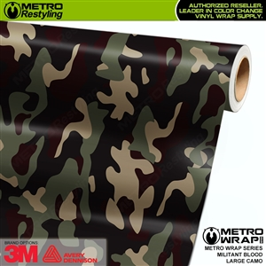 Large Militant Blood Camouflage Vinyl Car Wrap Film