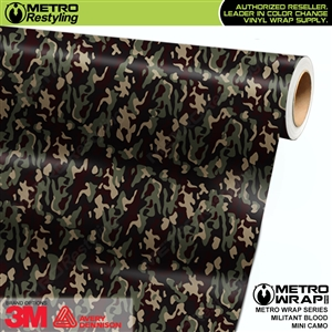 mini militant blood camouflage vinyl wrap