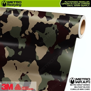 Mini Cumulus Militant Blood Camouflage Vinyl Car Wrap Film