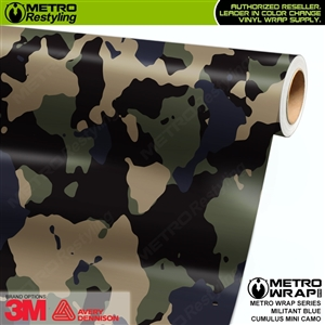 Mini Cumulus Militant Blue Camouflage Vinyl Car Wrap Film