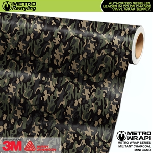 Mini Militant Charcoal Camouflage wrap car vinyl film