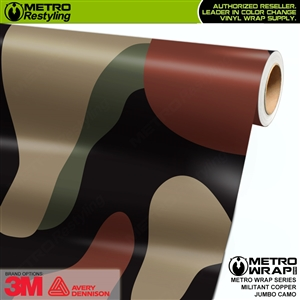 Jumbo Militant Copper Camouflage Vinyl Car Wrap Film