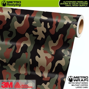Large Militant Copper Camouflage Vinyl Car Wrap Film