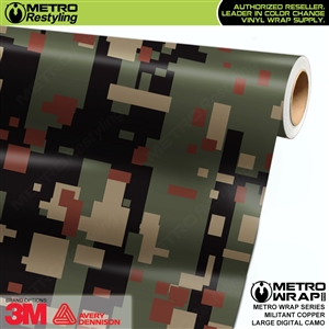 large digital militant copper camouflage vinyl