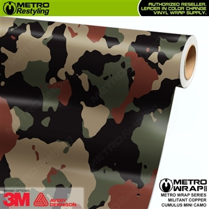 Mini Cumulus Militant Copper Camouflage Vinyl Car Wrap Film