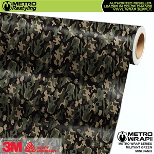 Mini Militant Green Camouflage wrap car vinyl film