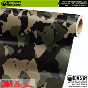 Mini Cumulus Militant Green Camouflage Vinyl Car Wrap Film