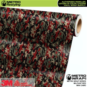 mini militant red camouflage vinyl wrap